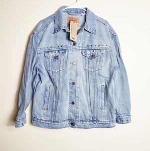NEW Levi's embellished ex boyfriend trucker jacket